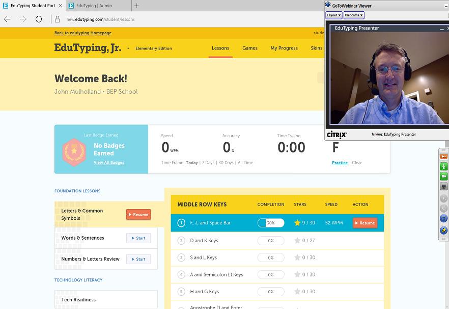 Keyboarding Online  Web-based Keyboarding  Typing Software for Schools - EduTyping.com